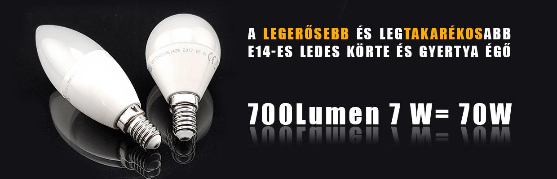 A legerősebb E14-es foglalató LEDES gyertya és körte égő! ce4a7c3ebb