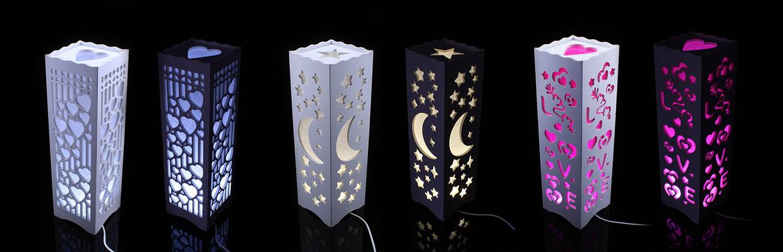 Hangulatos intarziás LED éjjeli lámpa 5998b6c365