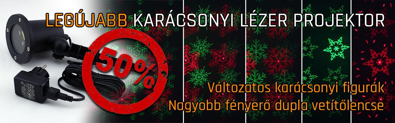 Új típusú ház megvilágító lézer projektor! Karácsonyi ábrákat és pontokat  is vetít. Utolsó darabok kiárúsítása! 50%! 01d595ec8d