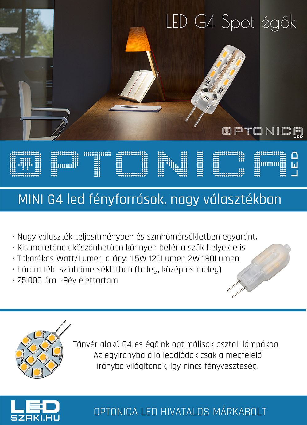 optonica GU10 és MR16